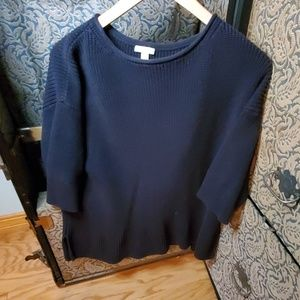 Gap black knitted Sweater baggy sleeves slits side